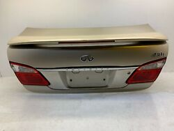 2000 2001 Infiniti I30 Oem Rear Trunk Lid Assembly Deck With Spoiler Lights
