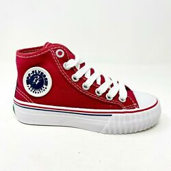 PF Flyers Center Hi Reis Red White Kids Casual Shoes KC1001RD