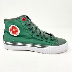 PF Flyers Center Hi Reis Green White Kids Casual Shoes PK12OH3G