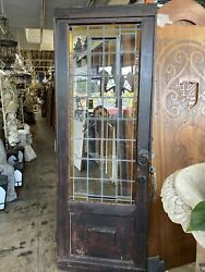 Frank Loyd Wright Style Stain Glass Door82x29
