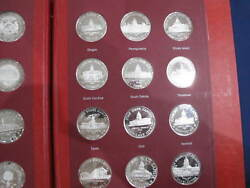 1964-1970 Capitol Medals Us State Capitol Silver Art Medals Set Of 50 E0676