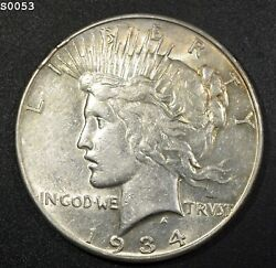 1934-s Peace Dollar Au+ Free S/h After 1st Item