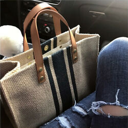 Large Capacity Women Work Bag Canvas Bags Reuseable Tote Shopping Bags $20.41