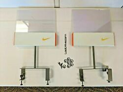 2 Store Display Nike Double Sided Sign Swoosh Sports Small Retail Advertising