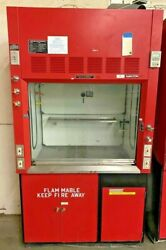 Fisher Hamilton 4' Fume Hood With Flammable Benches
