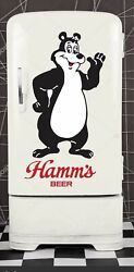 Hamms Beer fathead wall sticker 4#x27; dorm room man cave refrigerator Retro looking
