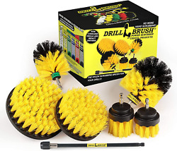 Drillbrush Ultimate Grout Cleaning Kit With Long Reach Extension - Shower Curtai