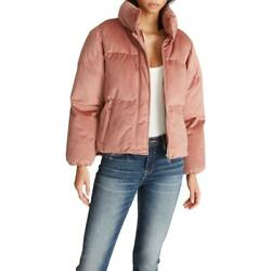Vigoss Womenand039s Velvet Quilted Short Winter Puffer Coat With Stand Collar