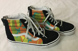 Vans Off The Wall Kids 1 Sneakers High Top Unique Camouflage Skateboard Shoes