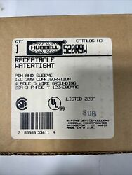 Hubbell 520r9w Pin And Sleeve Watertight Receptacle 4 Pole 5 Wire 20 Amp 3ph New