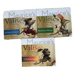 3 Books Maurice S Valises -the Beans Of Budapest - Medicine - Mouse Chaturanga