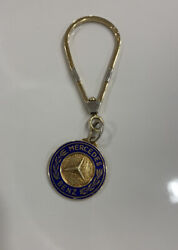 Rare Mercedes-benz 14k Yellow Gold Key Chain With Logo