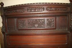 Four Piece Antique Walnut Victorian/ Eastlake Bed Set With Very Unusual Pieces