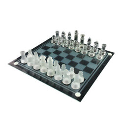Glass Chess Crystal Frosted Pieces Checkerboard Ornament International Games Set