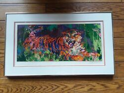 Original Serigraph Leroy Neiman Young Tiger 1978 Numbered And Signed