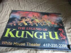 The Legend Of Kung Fu China Chinese Signed Banner White House Theatre Branson