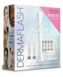 Dermaflash - Glow In A Flash Set - Exfoliation And Peach Fuzz Remover - New In Box