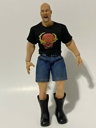 Rare Wwe Stone Cold Steve Austin Action Figure Real Clothes 12 Inches Tall