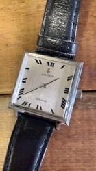 Corum Antique Watch Self-winding Black Leather Belt Admiraland039s Cup Square Type