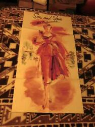 Sew And Save Fashion Art Advertising Poster Vintage