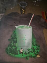 Travis Scott X Mcdonalds Grail T-shirt Large And Arches Cup With 2 Bags