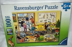 New Ravensburger At The Vet's 100 Xxl Piece Jigsaw Premium Puzzle Ages 6+