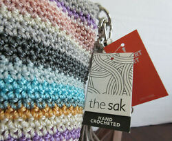 New The Sak Hand Crochet Bag Striped Purse  NWT Casual Convertible  $40.00