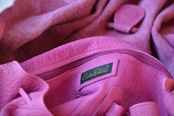 CARLOS FALCHI authentic Hot Pink Leather Satchel Purse. Large 16quot; x 19quot; $26.00