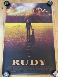 Sean Astin Signed Rudy Fs 27x40 Poster Exact Proof Coa Autographed
