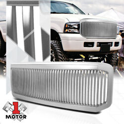 Silver Vertical Bar Billet Grille/grill For 05-07 Ford F250/f350/f450/f550 Sd