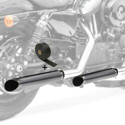 Set 2x Motorcycle Exhaust Turn Out + Exhaust Wrap To2