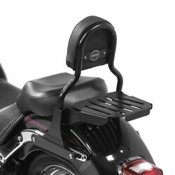Sissy Bar Cl Fix For Harley Fat Boy Special/ Lo 10-17 With Luggage Rack Black