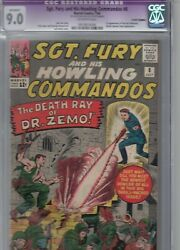 Sgt. Fury 8 July 1964 - Cgc 9.0 First Zemo No Mask