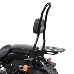 Sissy Bar Csl Fix For Harley Sportster Forty-eight 48 Special Luggage Rack Black