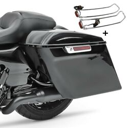 Saddlebags Set For Harley Electra Glide Ultra Classic 14-16 + Lid Rail S-p7
