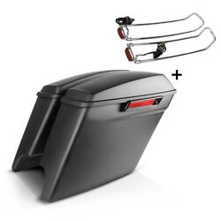 Saddlebags Set For Harley Electra Glide Ultra Classic 14-16 + Lid Rail S-p8