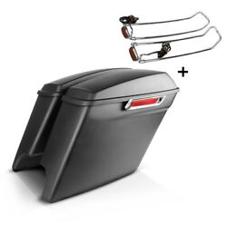 Saddlebags Set For Harley Electra Glide Ultra Classic 14-16 + Lid Rail S-p9