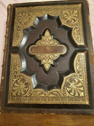 Antique Christian Family Holy Bible W/ Revised New Testament Published 1872