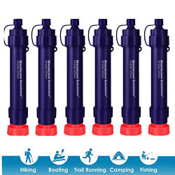 Personal Survival Water Filter Straw Drinking Outdoor Camping Hiking Emergency