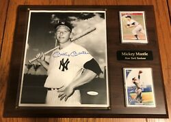 Mickey Mantle New York Yankees Signed Autographed 8x10 B/w Photo Framed 10000