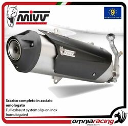 Mivv Urban Full System Exhaust In Inox Homologated For Kymco Xciting 250 0607