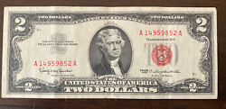 Two Dollar Bill - Red Seal - 1963