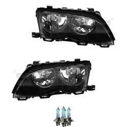 Headlight Set Left And Right H7/h7 For Bmw 3er Touring E46 Incl. Osram Lamps