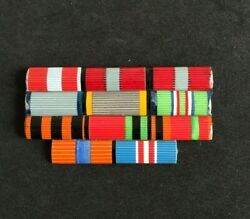 Ribbon Bar Set Armed Forces Ussr Russian Soviet Army Combat Military Medals Ribb
