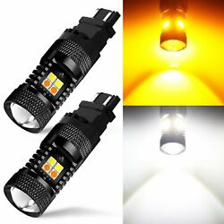 For Toyota 3157 4157 White/amber Color Switchback Led Turn Signal Light Bulbs 2x