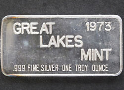 1973 Commercial Silver Art Bar Glm-1 Great Lakes Mint P1100