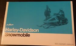 Vintage 1973 Amf Harley-davidson Snowmobile Owners Manual New 723