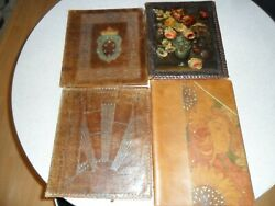 Lot Of Vintage/antique Leather Book Covers/sleeves