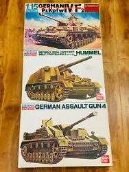 Bandai 1/15 Rc Motorized German Panzer Iv + Hummel + Stug Iv
