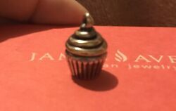 Retired Htf 3d James Avery Sterling Silver And Bronze Cupcake Charm